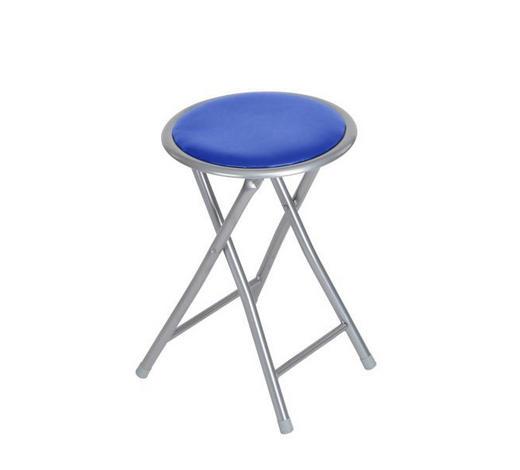 PREKLOPNA STOLICA - plava/boje aluminija, Konvencionalno, metal/plastika (30/45/30cm) - Boxxx