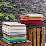 BOXSPRING-SPANNBETTTUCH Jersey Weiß bügelfrei, geeignet für Boxspringbetten  - Weiß, Basics, Textil (90-100/190-220cm) - Novel