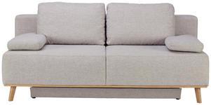 BOXSPRINGSOFA in Textil Hellgrau  - Hellgrau, MODERN, Holz/Textil (203/97/107cm) - Dieter Knoll