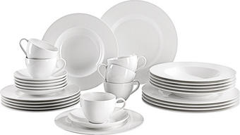 Fine China  V&B Kombiservice 30-teilig - Weiß, Basics, Keramik - Villeroy & Boch