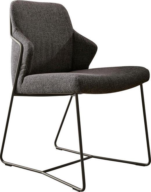 STUHL Anthrazit, Grau - Dunkelgrau/Anthrazit, Design, Textil/Metall (53/85/63cm) - Musterring
