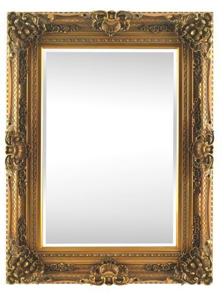 OGLEDALO - boje zlata, Lifestyle, drvo (98/128/10,7cm) - LANDSCAPE