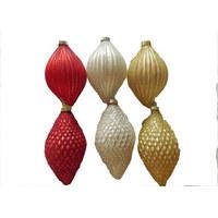 KROGLICA ZA NA JELKO, 7 CM - rdeča/šampanjec, Basics, steklo (7cm) - X-Mas