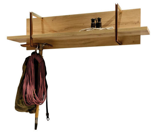 GARDEROBENPANEEL 128/32/33 cm - Eichefarben, Design, Holz/Metall (128/32/33cm) - Voglauer