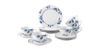 SERVIS KÁVOVÝ - bílá/modrá, Basics, keramika - Ritzenhoff Breker