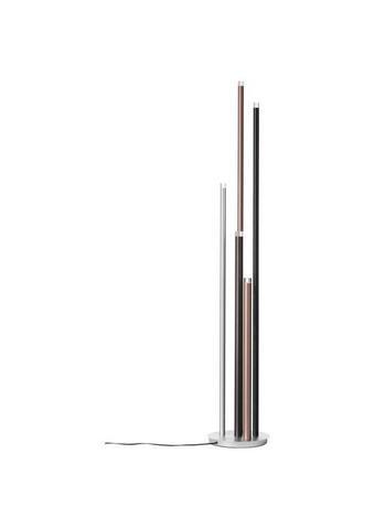 Led-stehleuchte - Hellbraun/Silberfarben, Konventionell, Kunststoff/Metall (27,5/155,3cm)