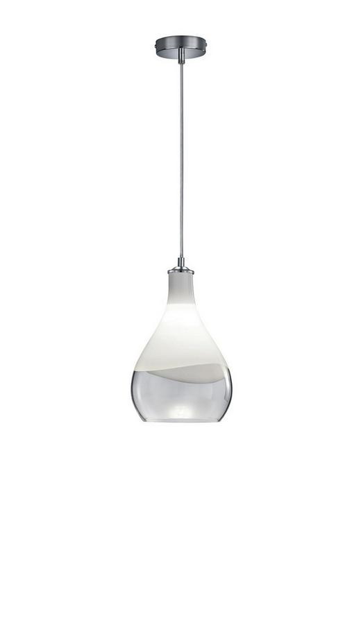 HÄNGELEUCHTE - Chromfarben/Klar, Design, Glas/Metall (20,0/150,0cm)