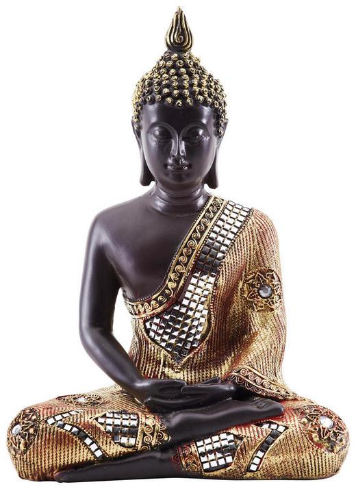 BUDDHA - Goldfarben/Braun, LIFESTYLE, Kunststoff (32/45/20cm) - Ambia Home