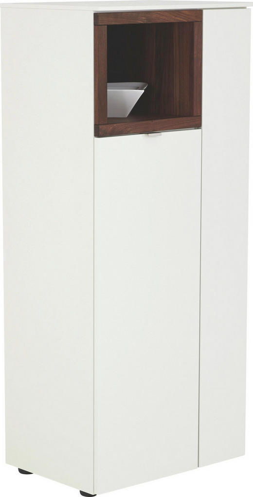 HIGHBOARD - Nussbaumfarben/Alufarben, Design, Holz/Holzwerkstoff (60/139/43cm) - Venjakob