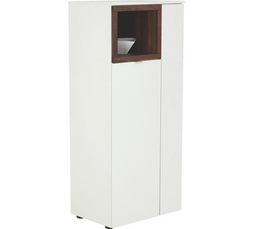 KOMODA HIGHBOARD - bílá/černá, Design, kov/dřevo (60/139/43cm) - Venjakob