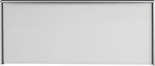 GARDEROBENBANK - Alufarben/Weiß, Design, Glas/Metall (102/44/33,5cm) - Dieter Knoll