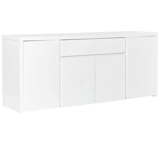 SIDEBOARD Hochglanz, lackiert Weiß  - Weiß, Design, Holzwerkstoff (200/85/50cm) - Carryhome