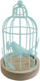 TEELICHTHALTER - Blau, LIFESTYLE, Holzwerkstoff/Metall (13,5/22cm) - Ambia Home