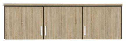 AUFSATZSCHRANK in Eichefarben  - Eichefarben/Silberfarben, Basics, Holzwerkstoff/Kunststoff (136/39/54cm) - Carryhome