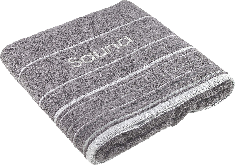 SAUNATUCH 70/200 cm - Anthrazit, Basics, Textil (70/200cm) - ESPOSA