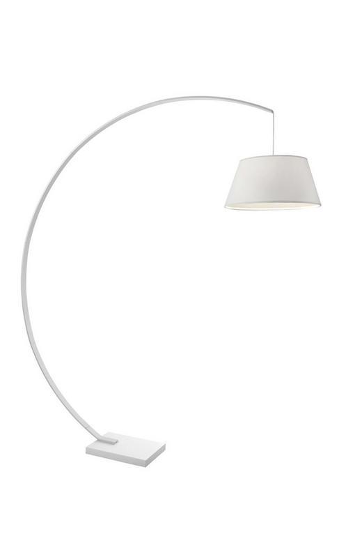 BOGENLEUCHTE - Weiß, MODERN, Textil/Metall (190cm) - Ambiente