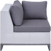 LOUNGE KUTNI DIO - bijela/siva, Design, metal/tekstil (87,5/70,5/87,5cm) - Ambia Garden