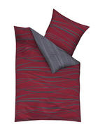 POSTELJINA - siva/crvena, Konvencionalno, tekstil (200/200cm) - Kaeppel