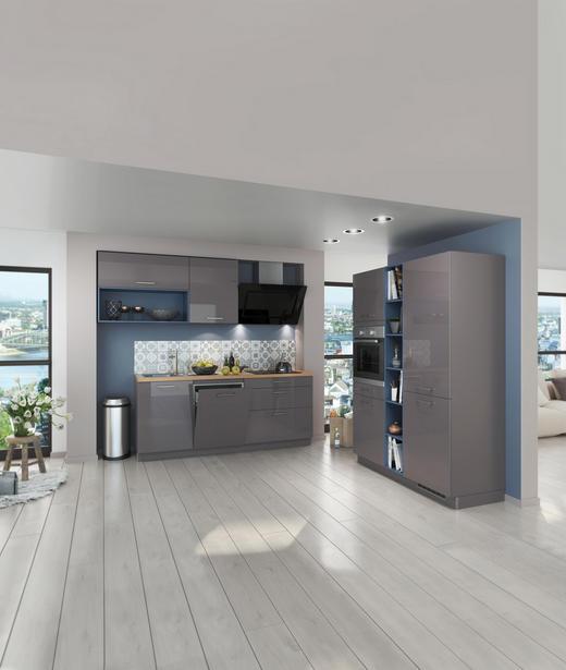 ECKKÜCHE E-Geräte, Soft-Close-System, Spüle - Blau/Grau, Design (235/275cm) - Stylife