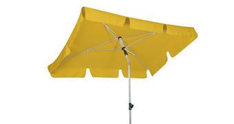 SENČNIK - rumena/srebrna, Konvencionalno, kovina/tekstil (180/120cm)