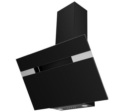Dunstabzugshaube 60230 - Schwarz, Basics, Glas/Metall (90/94,5-133,5/37,5cm) - Mican