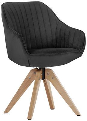 STOL - antracit/ekfärgad, Design, trä/textil (60/83/65cm) - Hom`in