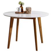 ESSTISCH Kautschukholz massiv rund Weiß  - Weiß, Design, Holz (105/76cm) - Carryhome