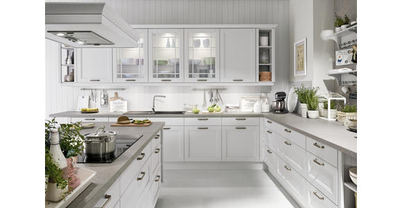 Einbauküche Casablanca individuell planbar - Schwarz/Weiß, MODERN, Holzwerkstoff - Vertico