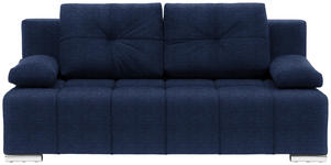 SCHLAFSOFA in Textil Blau  - Blau/Silberfarben, MODERN, Kunststoff/Textil (201/95/110cm) - Xora
