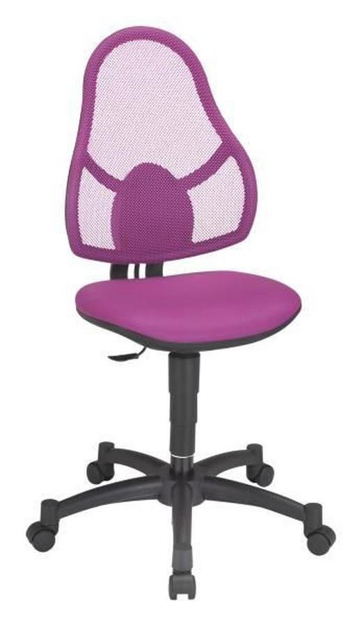 JUGENDDREHSTUHL Lederlook Violett - Violett/Schwarz, Basics, Kunststoff/Textil (88-100//cm)