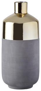VASE - Goldfarben/Grau, Keramik (12/25cm) - Ambia Home
