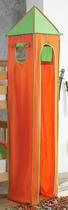 TURMSET Grün, Orange - Orange/Grün, Design, Textil (40/235/40cm)