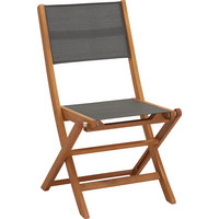 VRTNA SKLOPIVA STOLICA - siva/smeđa, Lifestyle, drvo/tekstil (50/90/58cm) - AMBIA GARDEN