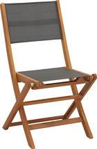 ZAHRADNÍ SKLÁPĚCÍ ŽIDLE - šedá/hnědá, Lifestyle, dřevo/textil (50/90/58cm) - AMBIA GARDEN