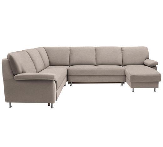 WOHNLANDSCHAFT in Textil Beige  - Beige, KONVENTIONELL, Textil/Metall (250/313/155cm) - Ada Austria