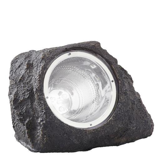 SOLARNA SVETILKA - siva/bela, Design, umetna masa (15/12,5/10,5cm) - Boxxx