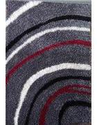 TEPIH VISOKOG FLORA - siva/crvena, Basics, tekstil (80/150cm) - Novel