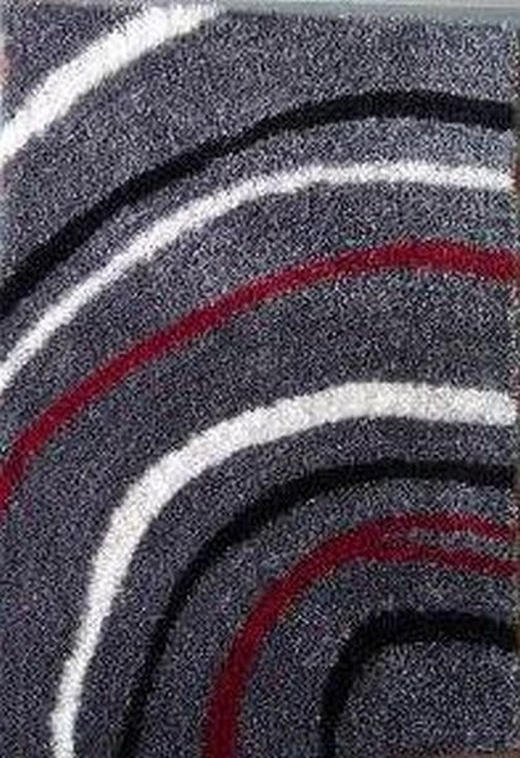 TEPIH VISOKOG FLORA - siva/crvena, Basics, tekstil (140/200cm) - Novel
