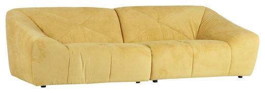 MEGASOFA in Textil Gelb - Gelb/Schwarz, Design, Textil (250/75/105cm) - Xora