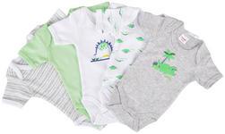BABYBODY-SET  - Weiß/Grau, Basics, Textil (74/80null) - My Baby Lou