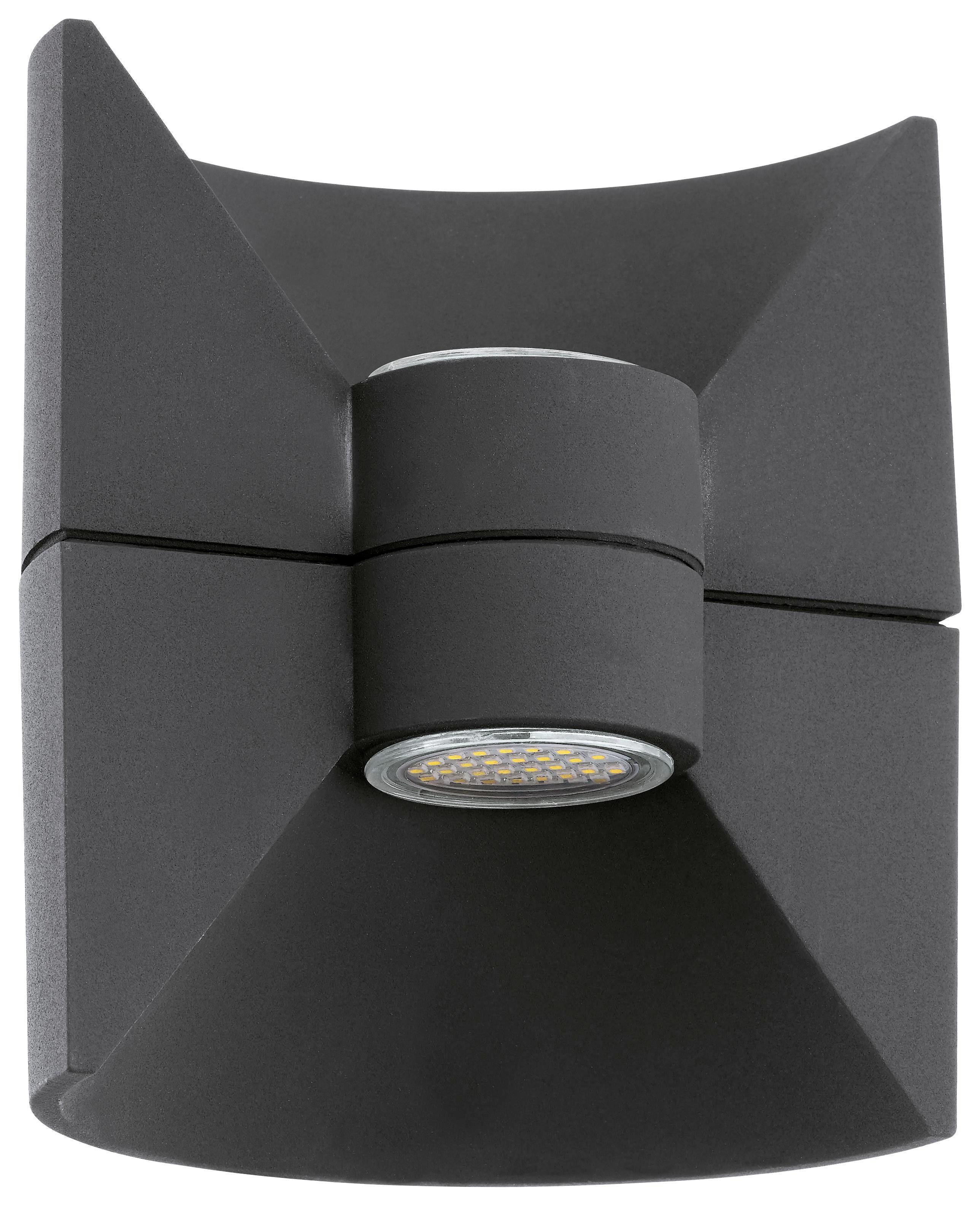 WANDLEUCHTE - Anthrazit, Design, Metall (16cm)
