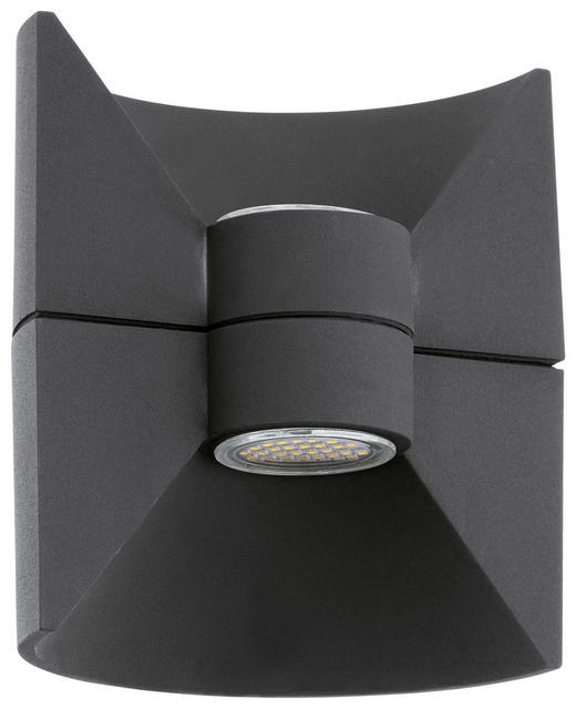 WANDLEUCHTE - Anthrazit, Design, Metall (16/17,5cm)