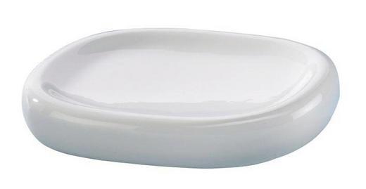 SEIFENSCHALE - Weiß, Design (13,4/2,3/10,3cm)