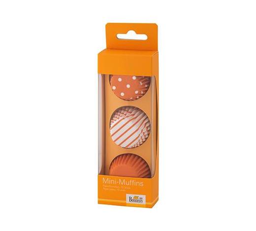 PAPIERFÖRMCHEN - Orange/Weiß, Basics, Papier (4,5cm) - Birkmann