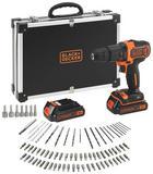 Black&Decker Akkuschrauber-Set - Schwarz/Orange, Basics, Kunststoff/Metall (42/35/12cm) - Black & Decker