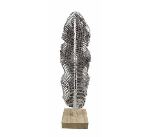 DEKOFEDER - Silberfarben, LIFESTYLE, Kunststoff (9,5/33,5/8cm) - Ambia Home