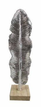 DEKORAČNÍ PERA - barvy stříbra, Lifestyle, umělá hmota (9,5/33,5/8cm) - Ambia Home