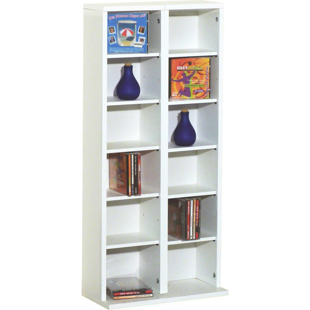 XXXL CD-REGAL Weiß   Wohnzimmer > TV-HiFi-Möbel > CD- & DVD-Regale   Holzwerkstoff   XXXL Shop