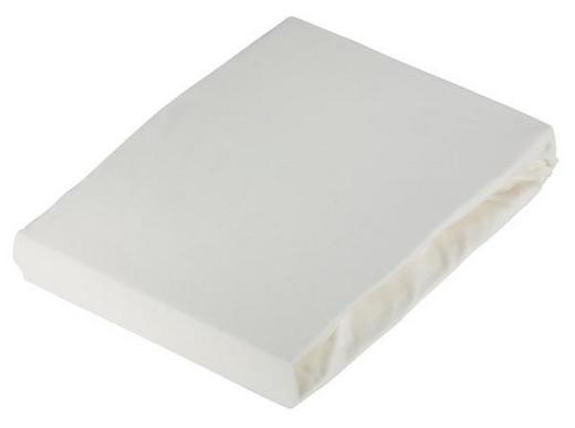 SPANNBETTTUCH Jersey Weiß bügelfrei - Weiß, Basics, Textil (180/200cm) - Novel