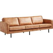 DREISITZER SOFA Lederlook Braun   Schwarz/Braun, Design, Textil/Metall (